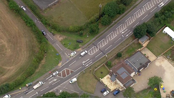 Police officer killed while attending reported burglary In Berkshire - ten men arrested
