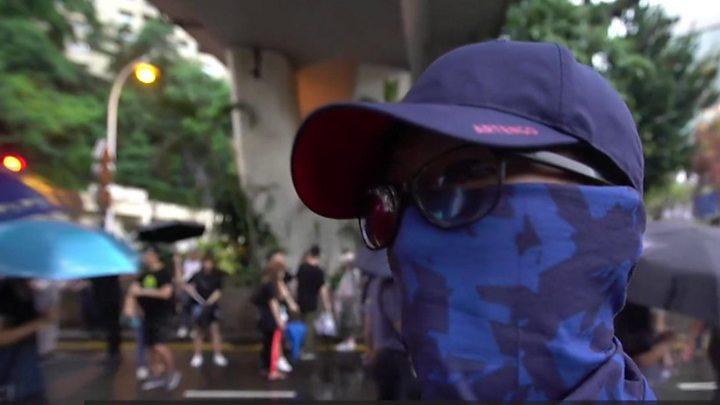 Hong Kong protests: More than 100,000 march peacefully
