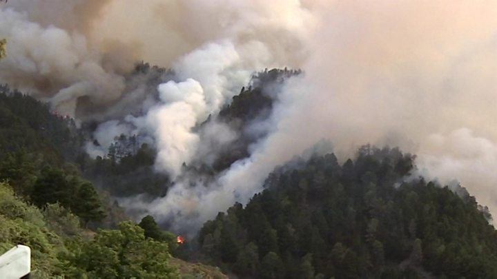 Wildfire prompts evacuations in Canary Islands