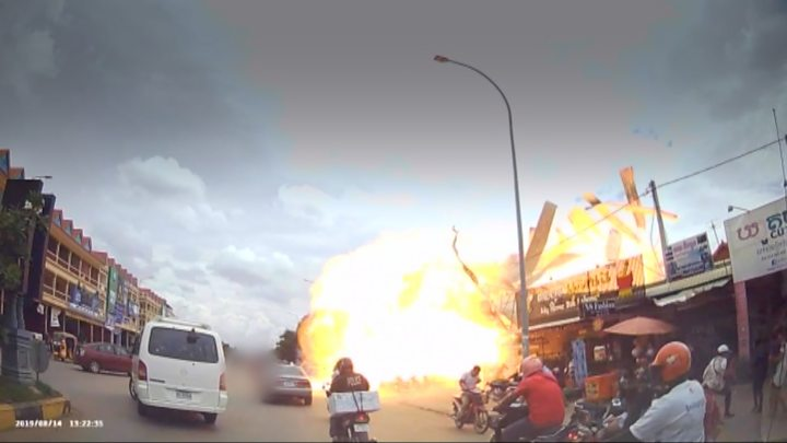 Kent teacher relives Cambodia petrol station explosion