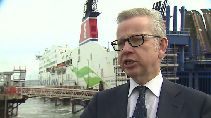 Brexit: Michael Gove pledges to ensure traffic flows through ports