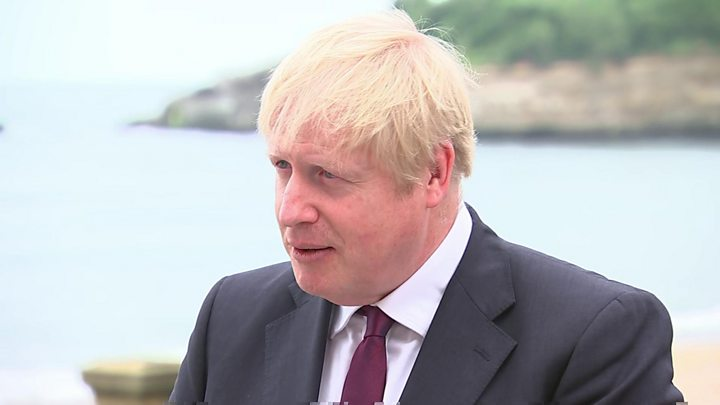 A Brexit deal is now 'touch and go', says Johnson