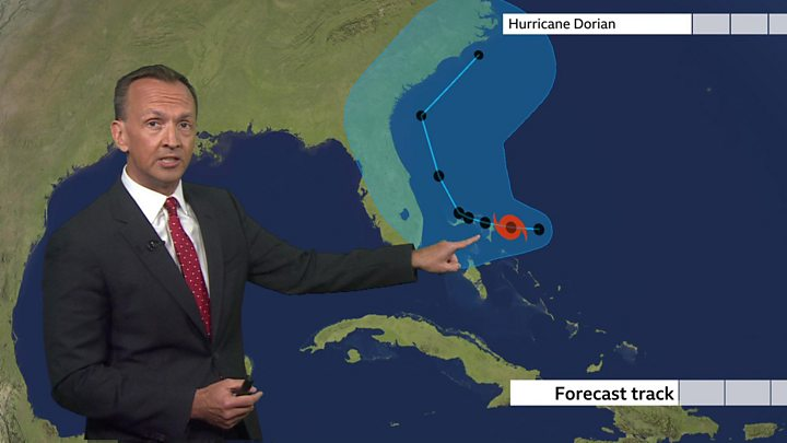 Hurricane Dorian: Storm strengthens to category 4