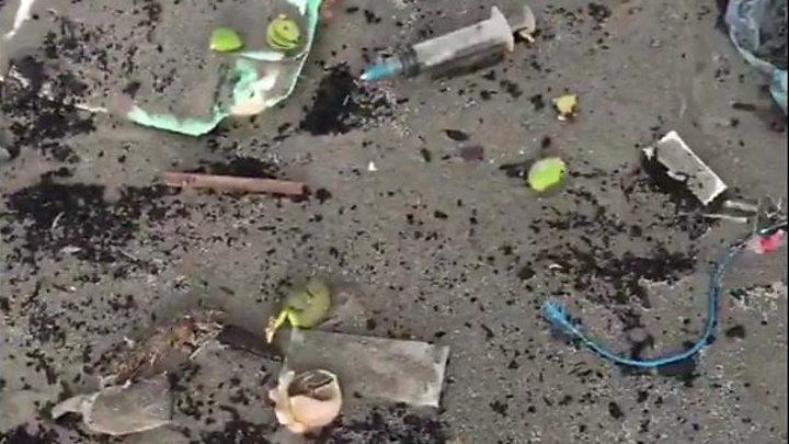 Medical waste strewn across Karachi's beach