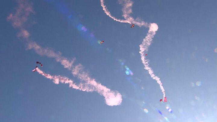 Battle of Arnhem: Mass parachute drop marks WW2 assault