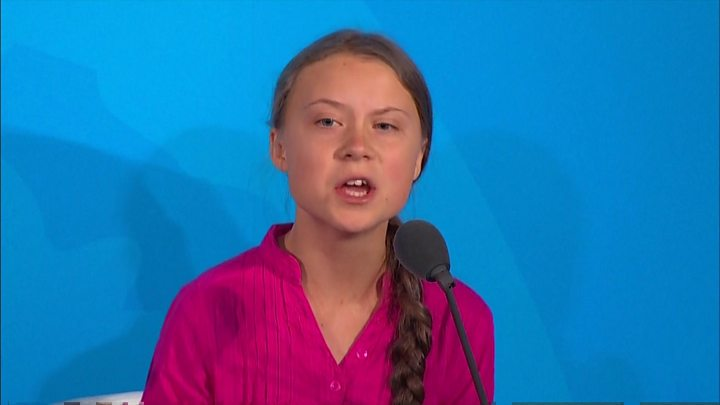 Greta Thunberg stares down Trump as two cross paths at UN