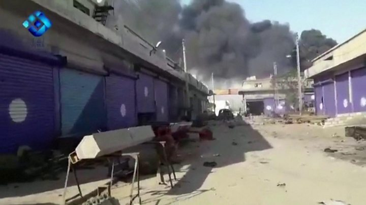 Turkey Syria offensive: Fierce battle rages in Ras al-Ain