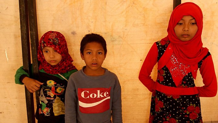 Orphaned siblings rescued from Syrian camp
