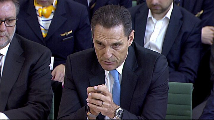 Former Thomas Cook boss grilled by MPs