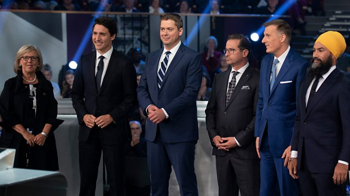 Canada Election Key Moments From The Leaders Debate Bbc News