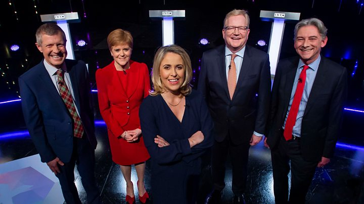 Election 2019: Scottish party leaders clash in BBC TV debate