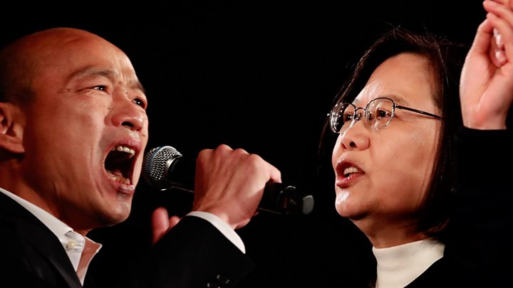 Taiwan election: Tsai bids for 2d term towards contender Han thumbnail