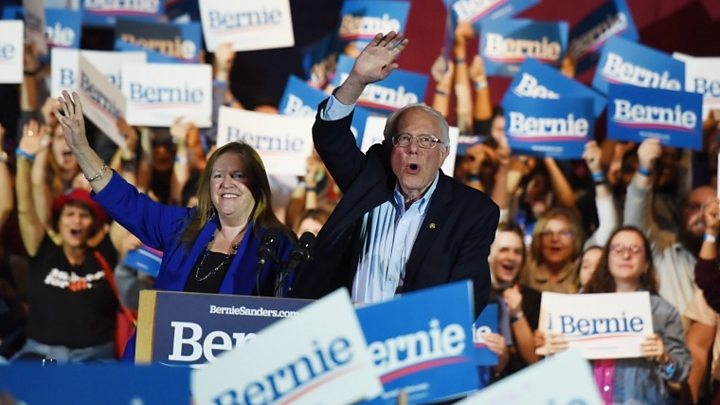 Democratic primary: Sanders says Biden's 'conventional' approach won't win