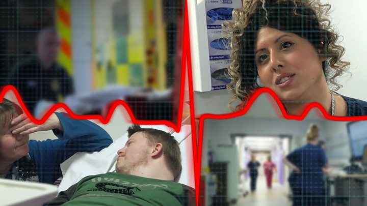p084t36b - Sickest NHS patients 'face hours on trolleys'