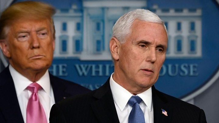 p084wpyy Trump names VP Pence man answerable for coronavirus response