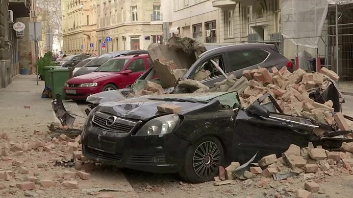Image result for picture of earth quake in zagreb croatia