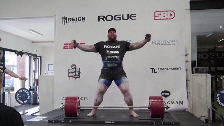 Hafthor Bjornsson: Game of Thrones actor breaks 501kg deadlift ...