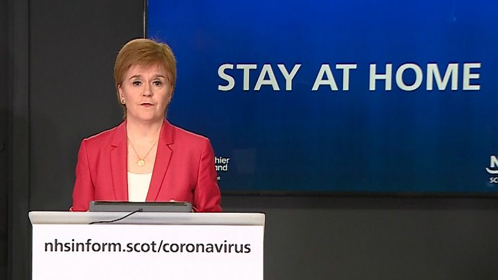 Coronavirus: Sturgeon reinforces stay at home message after Johnson statement thumbnail