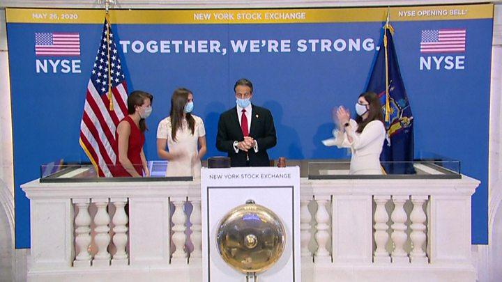 Coronavirus: New York Stock Exchange trading floor reopens - BBC News