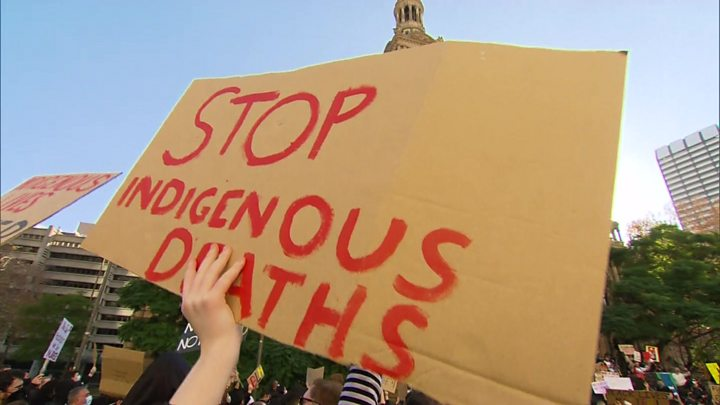 George Floyd death: Australians defy virus in mass anti-racism rallies