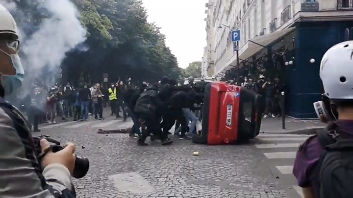 French healthcare rally turns violent