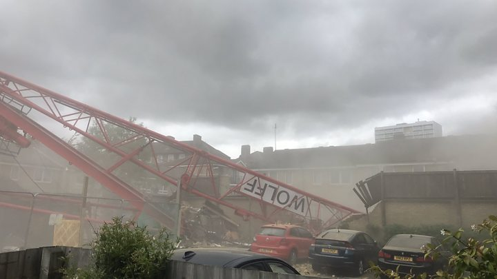 One dead, four injured in London crane collapse