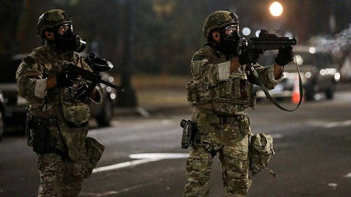 Portland protests: Trump threatens to send officers to more US ...