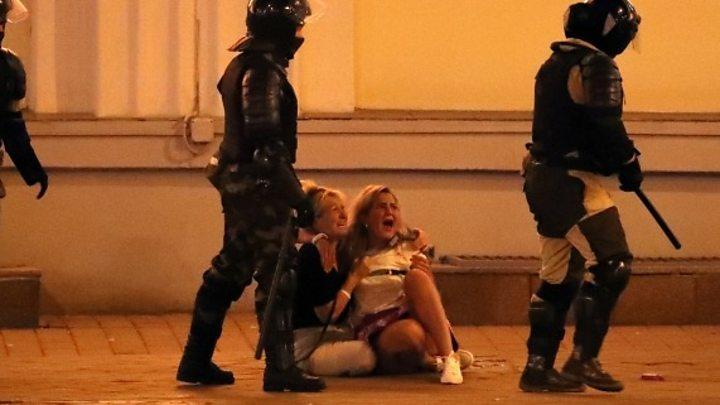 Eleições na Bielorrússia: a polícia usa fogo real contra manifestantes em Brest 1