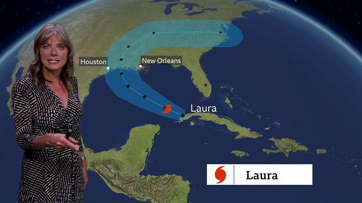 Marco now a depression, Laura moving into the Gulf