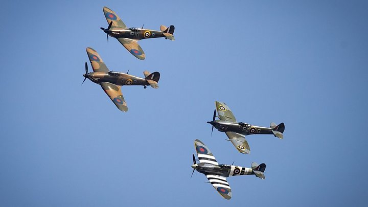Battle of Britain: Flypast and Westminster Abbey service mark 80th anniversary thumbnail