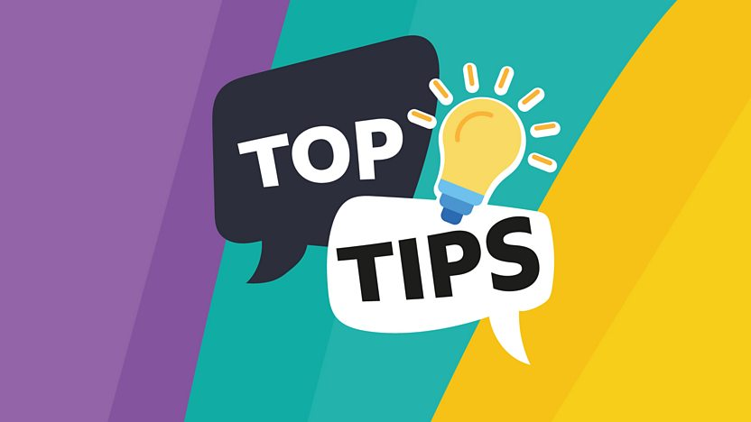 Top Tips graphic