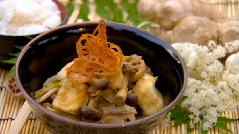 Japanese Tofu Aubergine And Lotus Root Stew Recipe Bbc Food