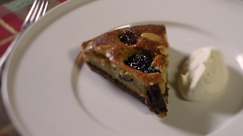 Prune and Armagnac tart