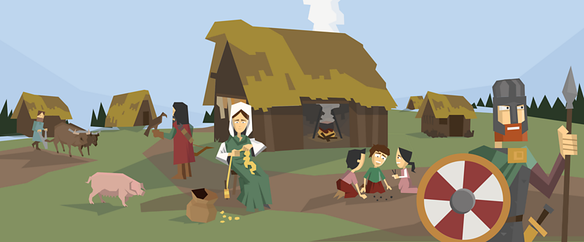 An Anglo-Saxon village