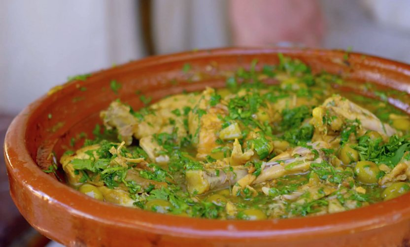 Chicken tagine with preserved lemon and green olives