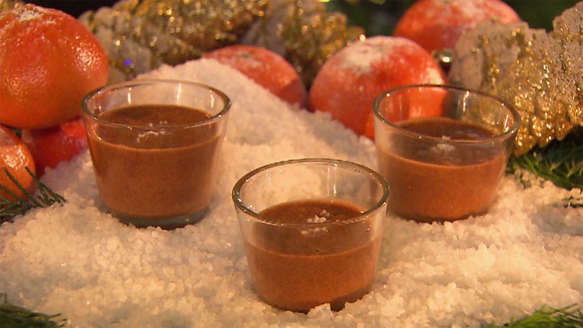 Milk chocolate salt caramel mousse