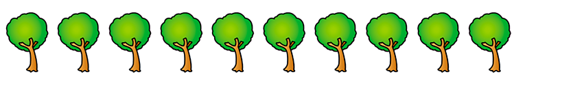 10 trees.