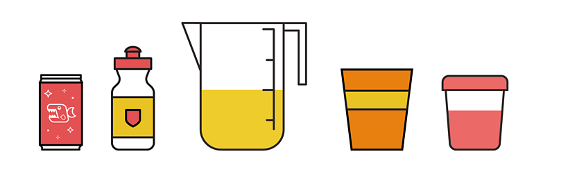 Different containers