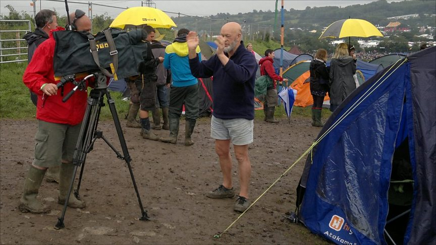 Newsworthy Farm: BBC News at Glastonbury