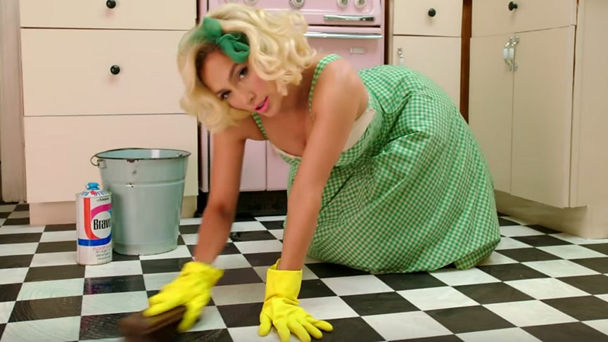 A brief history of pop stars doing household chores in music videos