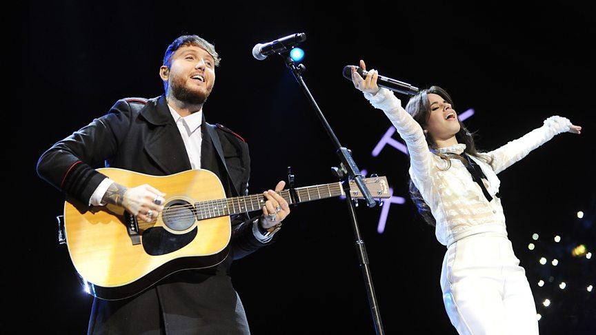 Camila Cabello and James Arthur duet at Radio 1's Teen Awards