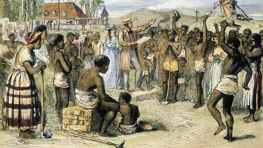 an analysis of the description of african slave trade