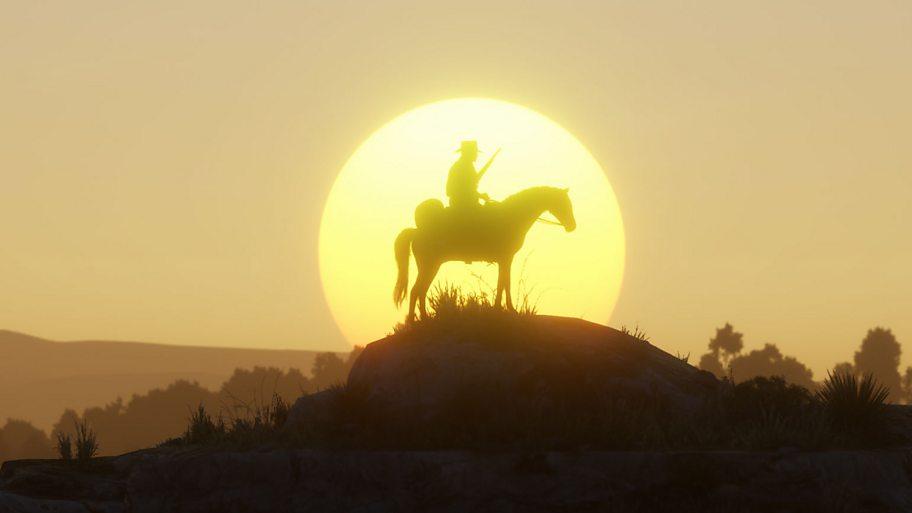 Silhouette scene Red Dead Redemption 2