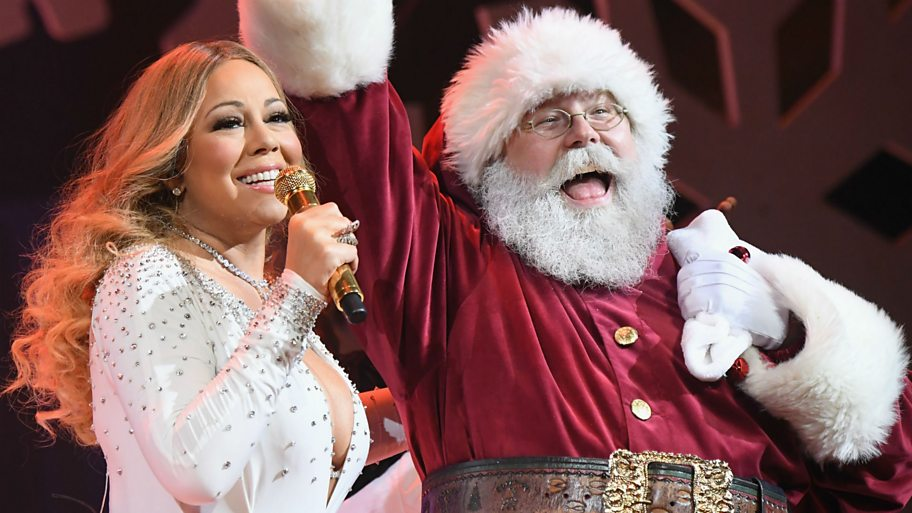 Mariah Carey and Santa