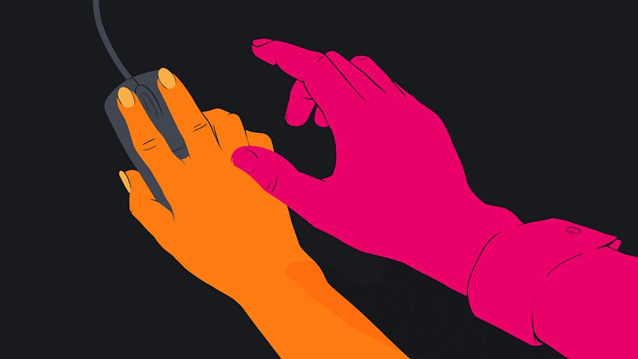 graphic of hands touching
