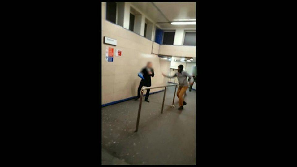 Jury sees Leytonstone Tube attack video