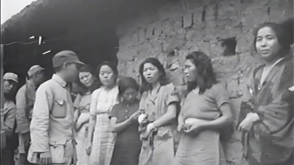 First known footage of 'comfort women'