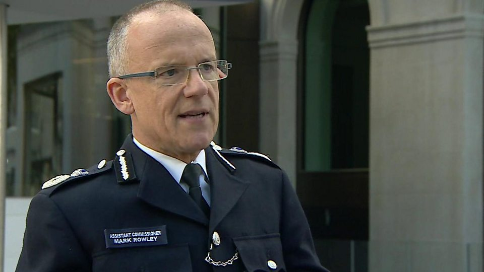 Assistant Commissioner Mark Rowley said the blast was caused by an improvised explosive device