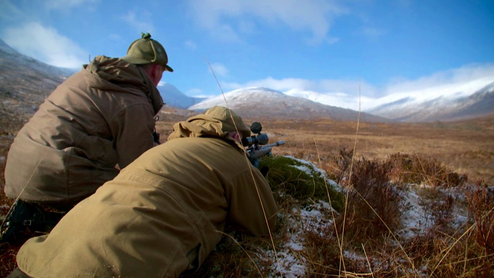 On the Achnacarry Estate, Alex Macdonald takes a guest out on a deer stalk  - to cull a hind