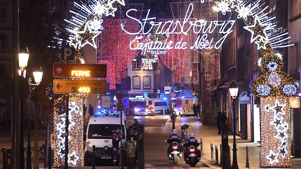 Pater Fritz describes hearing gunshots and attending to a victim of the Strasbourg shooting